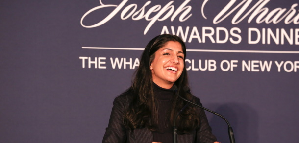 Anjali Sud, W'05 CEO, Vimeo. 2019 Joseph Wharton Award for Young Leadership